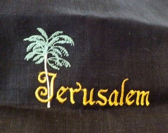255 Jerusalem 100% Linen Long Head Band Scarf
