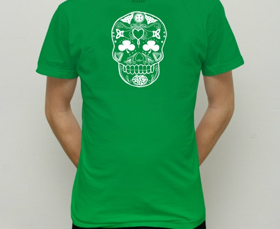 Day of the dead irish design t shirt limited by comebackpeter for Celtic design t shirts uk