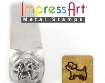 Yorkshire Metal Design Stamp- Yorkshire Metal Stamp- Dog Stamp- Metal Stamping Supplies- Pet Jewelry-  SGSC156-Z-6mm