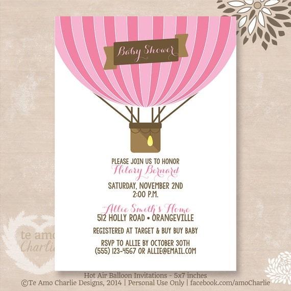 similar to hot air balloon baby shower invitations hot air balloon