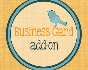 Business Card Design - Print your Own - Match your Shop Set