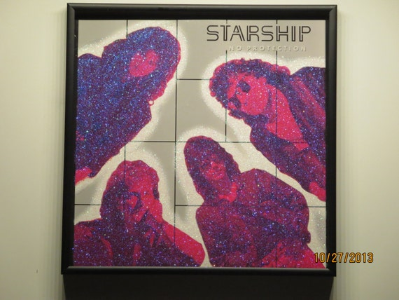 Glittered Record Album - Starship - No Protection