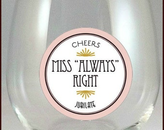 Mr. and Miss Wine Glass Charms - Mr. and Miss Glass Tags - Mr. and Miss  - Glass Labels - Glass Decals - 2 pack - Glass Not Included
