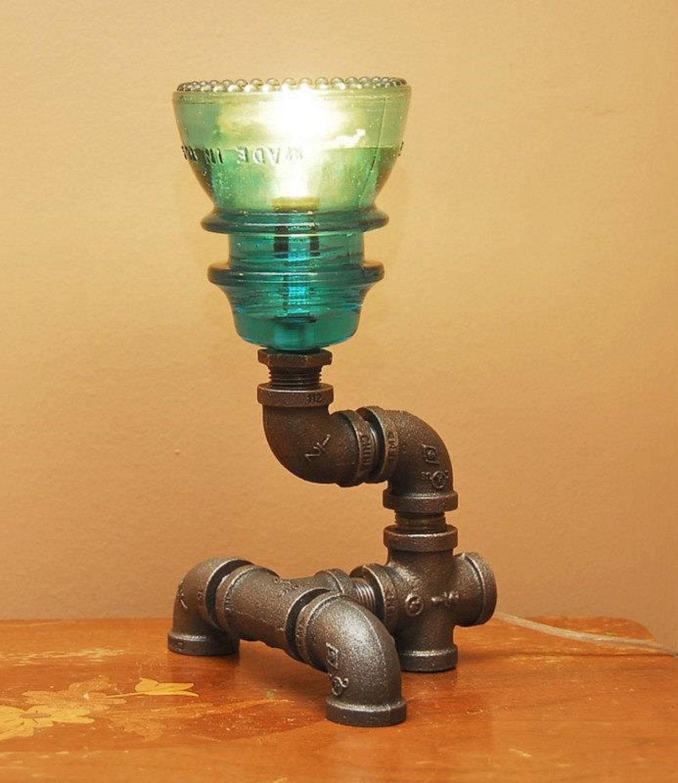 Gas Pipe And Insulator Lamp Medium