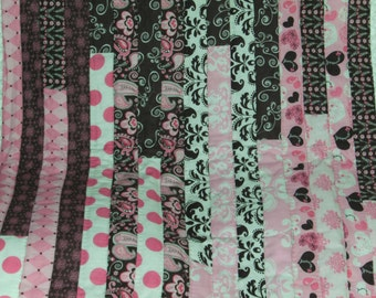 Jelly Roll  Throw Quilt , Colorfu lap quilts,  and  Bed Cover Quilts