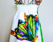 Very Hungry Caterpillar & Butterfly girl's Summer smocked dress - all ages