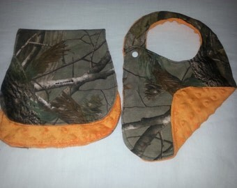 Camo Bib and Burp cloth