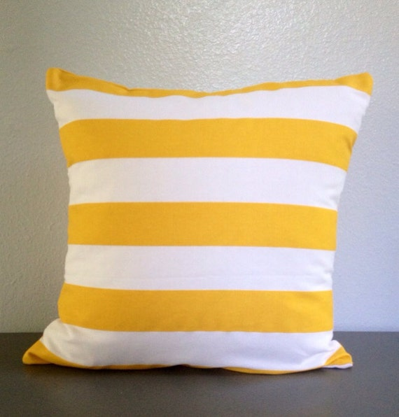 Yellow. White. Stripe. Stripes. Decorative. Pillow. Cover. Envelope. Cushion. Beach. pillows ...
