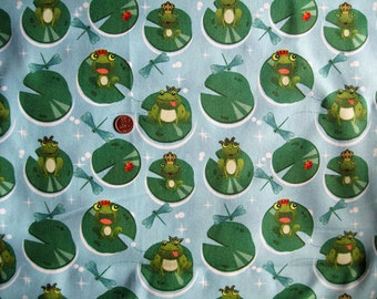 "Frog print fabric - 44"" x 35"""
