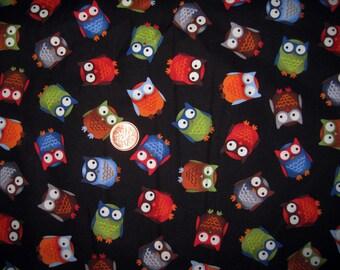"OWL print Fabric - Fat Quarter 18"" x 21.5"""