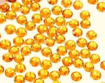 10mm 15 pieces Round Flat Back  Rhinestones  ----  Gold