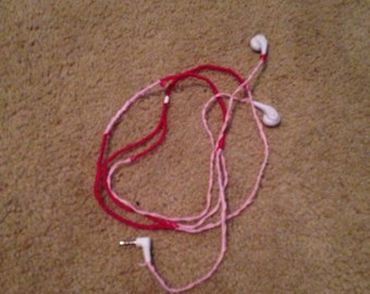 Red and Pink Headphones