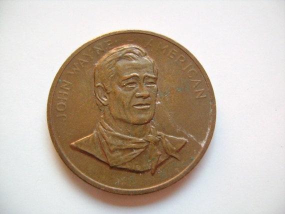 1979 John Wayne American Bronze Us Mint Commemorative By