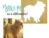Custom Silhouette Art Print - Pet Silhouette - Pet Art - It's not a home without a dog