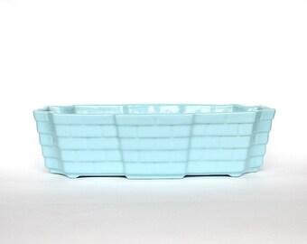 Blue Ceramic Planter - Vintage Pottery Planter - Art Pottery - Blue Planter - Vintage Planter - Alamo Pottery Planter - Art Deco Decor