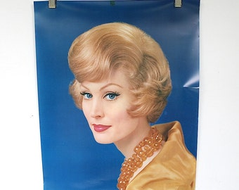 Vintage Poster - Hair Salon Decor - Beauty Salon Wall Decor - Poster Wall Art - Retro Hairstyle - Hair Style of the Month Poster
