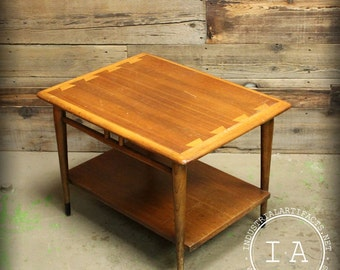 Antique Lane Acclaim Mid Century Modern Walnut Danish Dovetail Coffee Table