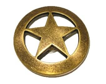 Ranger Star Concho Old Ranger Brass Finish