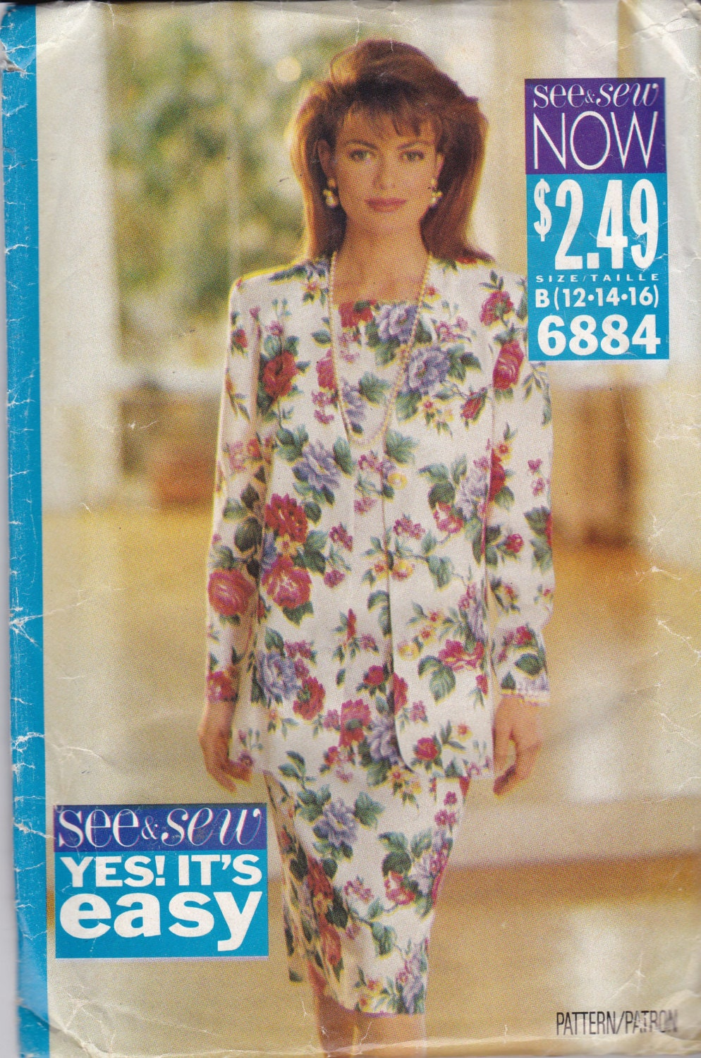 5b3da74ca880a See  Sew 6884 Vintage Pattern Womens Fitted Dress - Slim Line - and Semi  Loose Fitting Jacket Size 12
