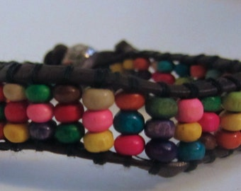 Multi Color Woven Bead Bracelet