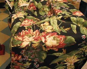 1 yard Fabric Sample cotton barkcloth print washes well
