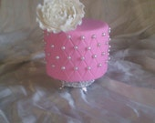 Pink Quilted Fake-Display  Event Cake