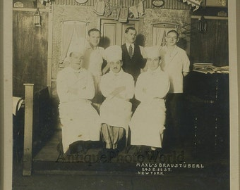 Maxl's Braustuberl New York restaurant antique photo