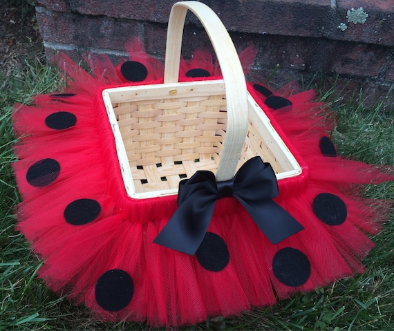 Sale******Halloween trick or treat basket, trick or treat bag, Halloween costume basket, tutu basket, ladybug basket, bumblebee basket, minn
