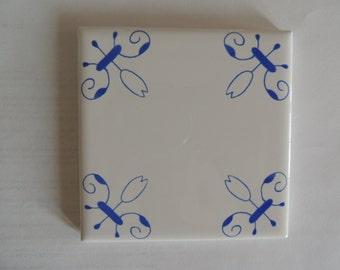 Delft Tiles Blue and White Decorative Tiles Delft Style Design in Delft Blue Dutch Tiles Tulip Tiles