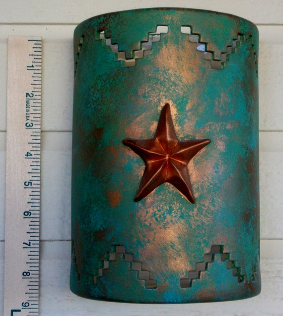 Ceramic Wall Sconce With A 3d Texas Star And By