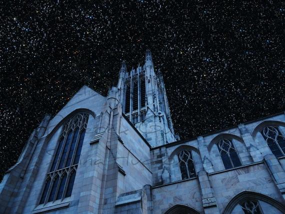 Star Night Church photo - 8 x 10 frame Print Art Photography