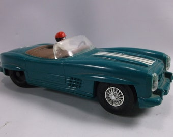 Slot Car 1/32 Scale Marx Toys Green Mercedes Convertible. epsteam