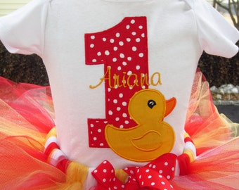 Rubber ducky birthday top