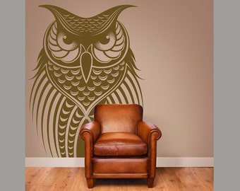 Owl Bird Vinyl Wall Decal Home Decor 20x30""