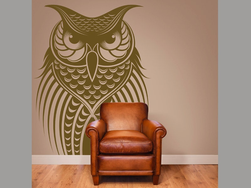 Owl Bird Vinyl Wall Decal Home Decor 20x30 By Stickerhog
