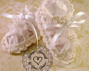 Fancy Beaded Baby Sandals for Christening, Weddings, and Special Occassions