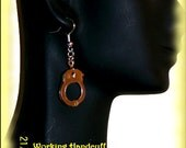 Super Cute Dangling Handcuff Earrings