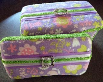 Custom Boutique Style Trave Wipe Case and Nursery Tub Set -  Teresa
