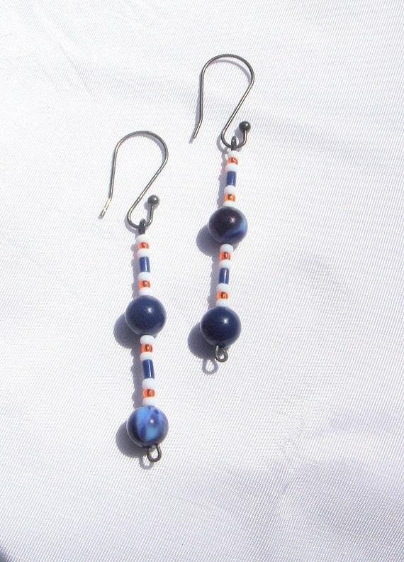 items similar to chicago bears inspired earrings chicago