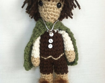Frodo Baggins.  Crochet Lord of the Rings Doll.  Hobbit Doll.