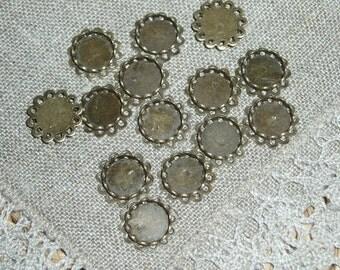 10 PCs Antique Bronze Cabochon Settings 12 mm Dia.( 8.5 mm Dia.)