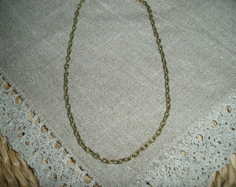 Antique Bronze Textured Link-Opened Cable Chain 4x2.5mm