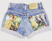 Safari. ANY SIZE Vintage High Waisted Denim Shorts