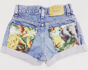 Safari. ANY SIZE Vintage High Waisted Denim Shorts