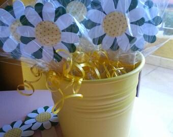 10 Daisy bookmarks, handmade for you