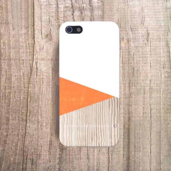 il 570xN.542500925 stgt Orange iPhone Case Wood Print Geometric iPhone 4 Case Wood iphone 5 Case iPhone5s Case Wood Galaxy S4 Case Orange CSERA Economy Line by casesbycsera