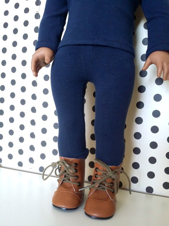 American Girl Clothes - Navy Blue Leggings for American Girl , Our Generation, My Life Dolls, and other 18 inch dolls