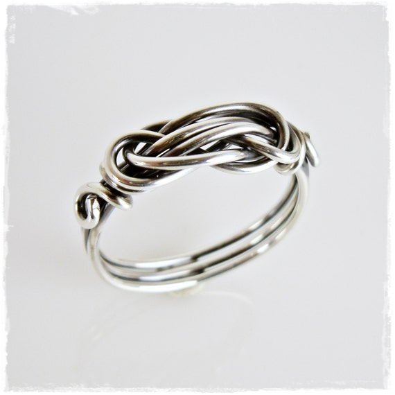 knot ring tie the knot ring knot promise ring thumb