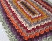 Vintage Colors Crocheted Afghan