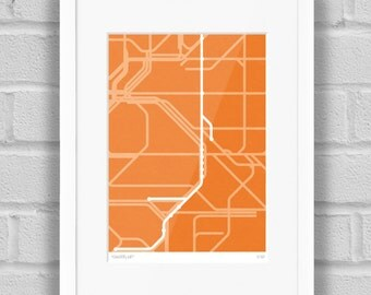 Gingerline (East London Line Route Map) - Limited Edition Art Print